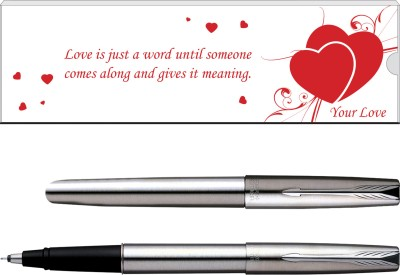 Parker Frontier Valentine Edition Stainless Steel CT Roller Ball Pen