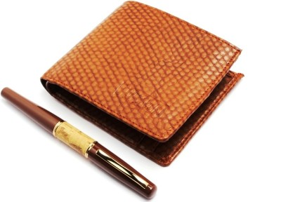 SRPC MENS PREMIUM LEATHER WALLET & EXECUTIVE ROYAL Pen Gift Set(Pack of 2, Blue)