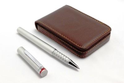 SRPC ATM CARD WALLET & ROTRING ESPRIT ROLLERBALL Pen Gift Set