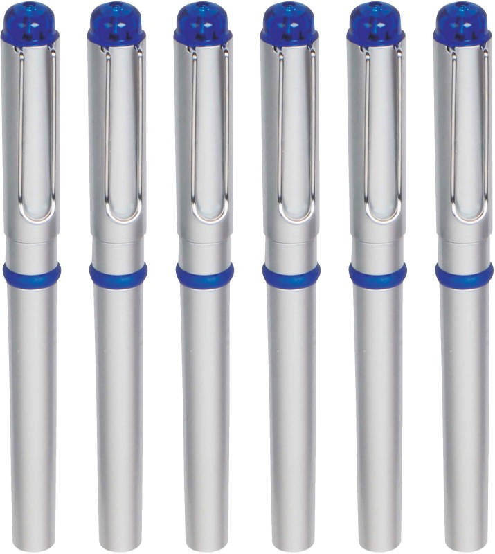 Zarsa Classic Blue Roller Ball Pen(Pack of 6, Blue)