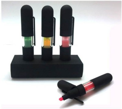 RIF rubber coated liquid highlighter (In matte finish) (Set Of 3 Pcs) Marker Ink