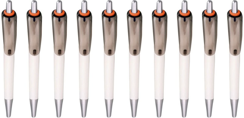Zarsa Classic Orange Roller Ball Pen(Pack of 10, Blue)