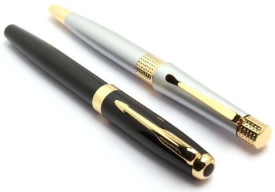Pearl combo of two pens Roller Ball Pen(Pack of 2, Black)