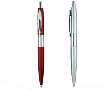 RIF Metal Chrome Pen Red & Silver (Set of 2 Pcs) Ball Pen