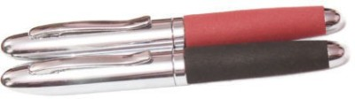 Perfect Fabric Finish with Silver Cap & Trim Roller Ball Pen