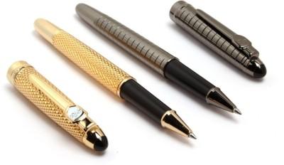SRPC EXECUTIVE GOLD MESH & GUNMETAL CHECKS ROYAL ROLLERBALL Pen Gift Set