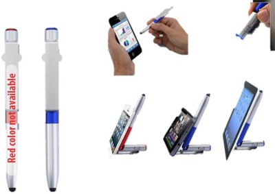 RIF 4 in 1 folding pen with stylus, torch and mobile stand (Set of 2 Pcs) Multi-function Pen