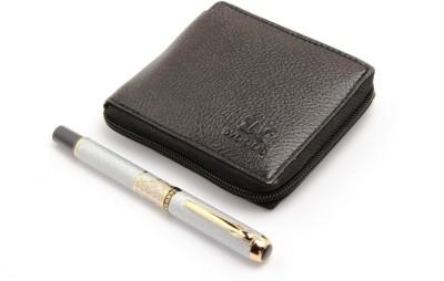 SRPC WOODS STYLISH MENS WALLET & DESIGNER ROLLERBALL Pen Gift Set