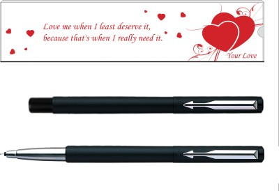 Parker Vector Valentine Edition Matte Black CT Roller Ball Pen