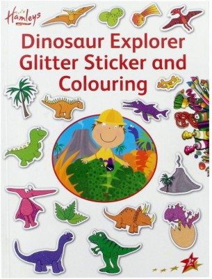 Hamleys Dinosaur Glitter Stationery Set