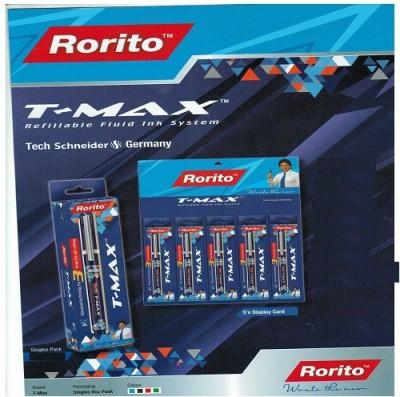 RORITO T MAX BLACK PACK OF 10 PCS Gel Pen(Pack of 10, Black)