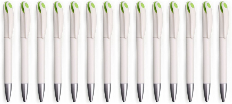 Zarsa Classic Green Roller Ball Pen(Pack of 14, Blue)