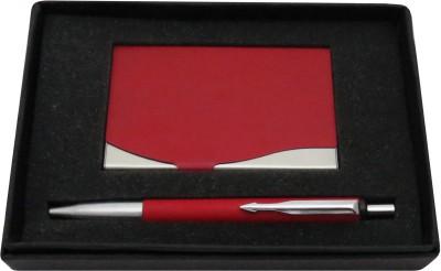 Romus PT Matte Red Card Holder Pen Gift Set(Pack of 2, Blue)