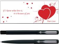Parker Vector Matte Black Valentine Edition CT (RB) Pen Gift Set(Pack of 2) best price on Flipkart @ Rs. 590