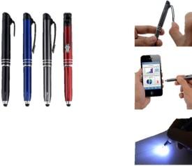 RIF Write in the dark executive 'Auto' pen with stylus (brass body) (Set of 4 Pcs) Multi-function Pen