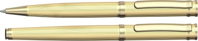 Henry Coleman Langestreifen Collection Alpine Gold Ballpen and Rollerball Set Pen Gift Set
