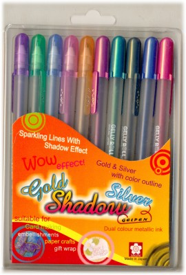 Sakura Gelly Roll Gold and Silver Shadow Gel Pen