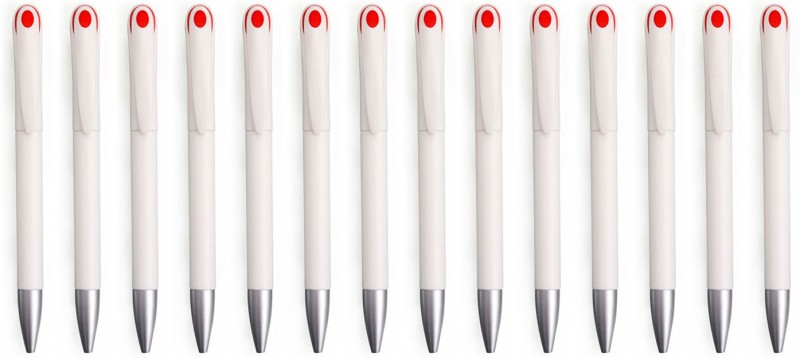 Zarsa Classic Red Roller Ball Pen(Pack of 14, Blue)