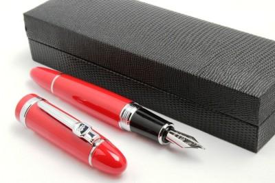 SRPC Lacquar Red Gigantic Signature Collection Fountain Pen