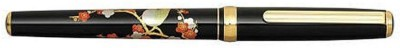 PensIndia Platinum Modern Maki-e Bush Warbler Designed 14KT GOLD Fountain Pen