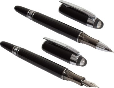 Baoer 79 Royal Touch Roller & Fountain Pen Gift Set(Pack of 2, Black, Blue)