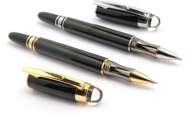 SRPC BAOER STARWALKER EXECUTIVE ROLLERBALL Pen Gift Set(Pack of 2, Blue)