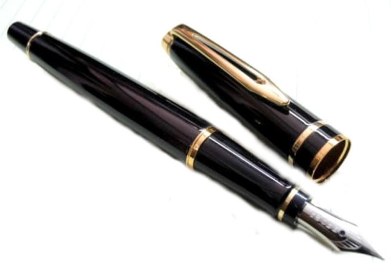 Baoer Gold clip Fountain Pen(Black)