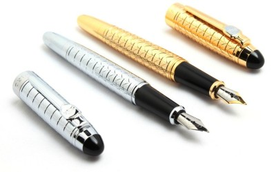 SRPC Elegent Silver & Gold Gigantic Fountain Fountain Pen