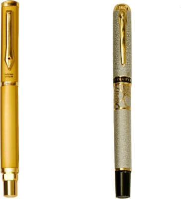 Hayman 24 CT Gold Plated Designer BUY1 GET 1 FREE Roller Ball Pen