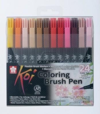 Sakura Koi Coloring Brush Calligraphy
