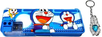 FCS Magnetic with Double Sided Gift Cartoon Art Plastic Pencil Box