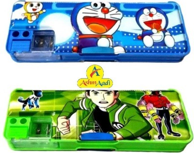 AshmAadi Multiple Cartoons/Characters Art Plastic Pencil Boxes