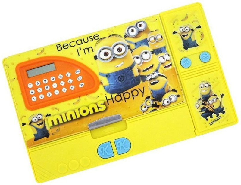 Royle Katoch CALCULATOR MINION Art PLASTIC Pencil Box(Set of 1, Yellow)