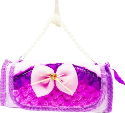 Priyankish Smart Kids Purple Flower Art Denim Pencil Box