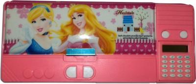 Karta Princess Mini Jambo With Calculator Single Sharpner Art Plastic Pencil Box
