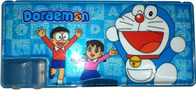 Karta Doraemon Big Shine With Single Sharpner Art Plastic Pencil Box