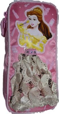 RBD Stylish PINK Art Plastic Fabric Pencil Box