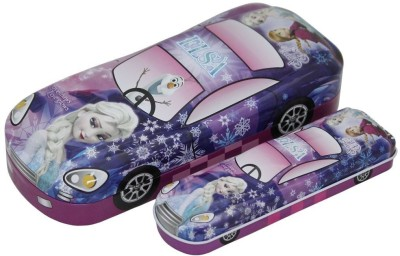 Shopaholic Frozen Car shaped Art Metal Pencil Boxes