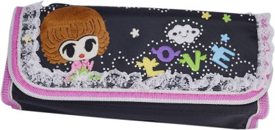 Saamarth Impex Student Supplies Cute Girl Print Art Clothes Pencil Box