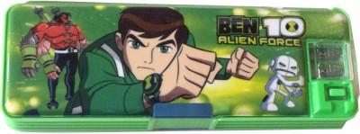 Karta Ben10 With Led Light Art Plastic Pencil Box(Set of 1, Green)