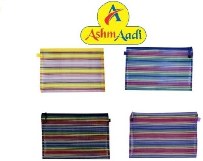 AshmAadi Boys-Girls Designed Art Nylone Pencil Boxes