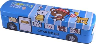 Saamarth Impex Bus Style Box Cartoon Print Art Plastic Pencil Box