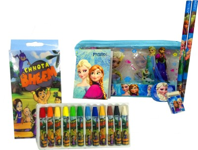 Gayatri Creations BEST OF LUCK CARTOON Art PLASTIC Pencil Box