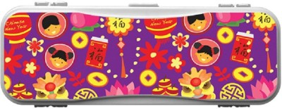 SKIN4GADGETS CHINESE CARTOON Designer Campass Box PATTERN Art Plastic Pencil Box