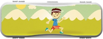 SKIN4GADGETS Skin4Gadgets A BOY RUNNING IN GARDEN Designer PATTERN Art Plastic Pencil Box