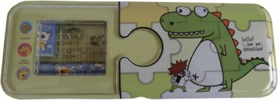 Synergy Toon Dinosaur Art Metal Pencil Box