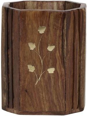 Derien brass leaf hand made Art wooden Pencil Box
