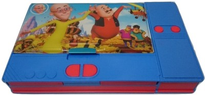 Gift Chachu Jumbo Motu Patlu Art Plastic Pencil Box