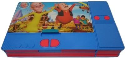Gift Chachu Jumbo Motu Patlu Art Plastic Pencil Box(Set of 1, Blue colour)