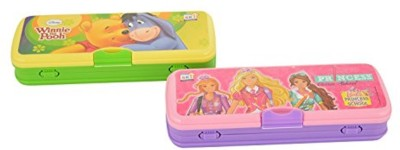 SKI Easy Carry Cartoon Art Plastic Pencil Boxes